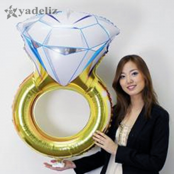 Folienballon Ring 84 cm x 62 cm